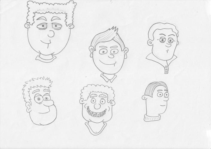 Initial Main Character Designs