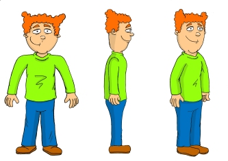 Jimmy Pea Character Model Sheet (Coloured)